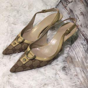 Gucci slingbacks heels